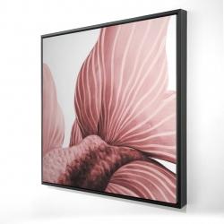 Framed 24 x 24 - 3D - Two red betta