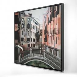 Framed 24 x 24 - 3D - Venice