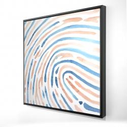 Framed 24 x 24 - 3D - Footprint