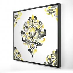 Framed 24 x 24 - 3D - Baroque ornament