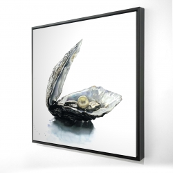 Framed 24 x 24 - 3D - Pearl oyster