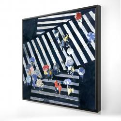 Framed 24 x 24 - 3D - Main street