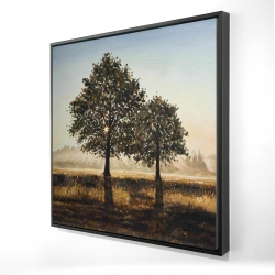 Framed 24 x 24 - 3D - Trees in the countryside