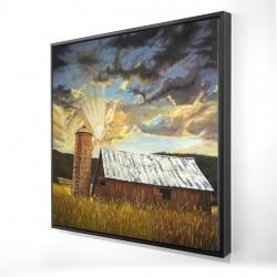 Framed 24 x 24 - 3D - Hay barn