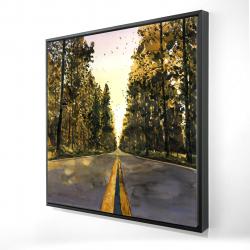 Framed 24 x 24 - 3D - Long road