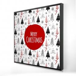 Framed 24 x 24 - 3D - Merry christmas - en