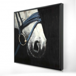 Framed 24 x 24 - 3D - Horse with harness