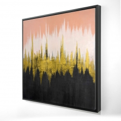 Framed 24 x 24 - 3D - Abstract zigzag