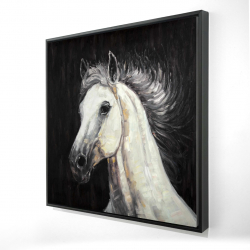 Framed 24 x 24 - 3D - White star