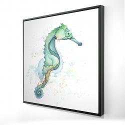 Framed 24 x 24 - 3D - Sea horse