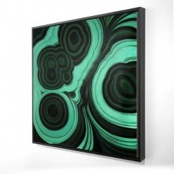 Framed 24 x 24 - 3D - Malachite stone