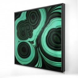 Framed 24 x 24 - 3D - Malachite stone