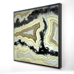 Framed 24 x 24 - 3D - Lace agate