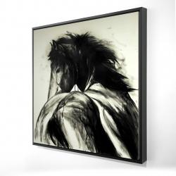 Framed 24 x 24 - 3D - Classical horse