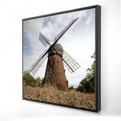 Framed 24 x 24 - 3D - Windmill