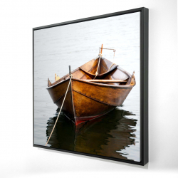 Framed 24 x 24 - 3D - Rowboat on calm water