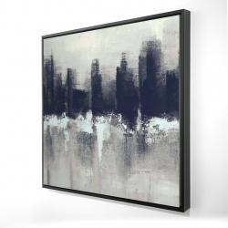 Framed 24 x 24 - 3D - Dark city