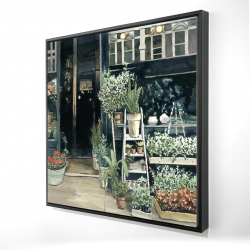 Framed 24 x 24 - 3D - Plants shop