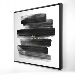 Framed 24 x 24 - 3D - Be.