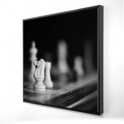Framed 24 x 24 - 3D - Monochrome chess games