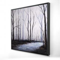 Framed 24 x 24 - 3D - Sad forest