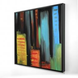 Framed 24 x 24 - 3D - Abstract tall buildings