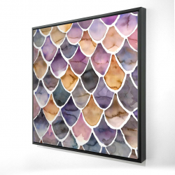 Framed 24 x 24 - 3D - Purple like a mermaid