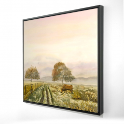 Framed 24 x 24 - 3D - Sweet morning in the countryside
