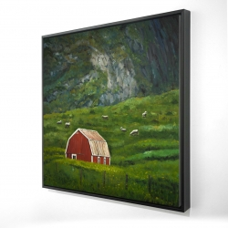 Framed 24 x 24 - 3D - Life in the countryside