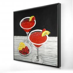 Framed 24 x 24 - 3D - Two cosmopolitan