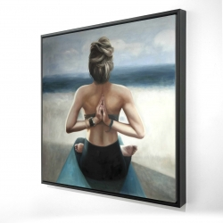 Framed 24 x 24 - 3D - Reverse prayer pose