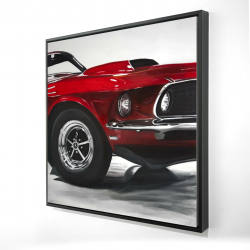 Framed 24 x 24 - 3D - Classic red car