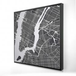 Framed 24 x 24 - 3D - New-york city plan