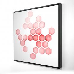 Framed 24 x 24 - 3D - Alveoli red
