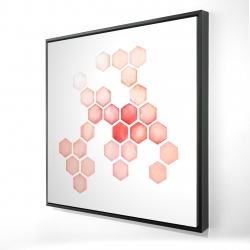 Framed 24 x 24 - 3D - Multiple alveoles