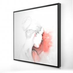 Framed 24 x 24 - 3D - Pastel woman