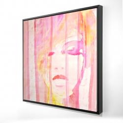 Framed 24 x 24 - 3D - Abstract portrait feminine