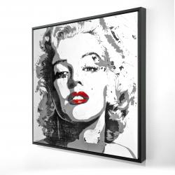Framed 24 x 24 - 3D - Marilyn monroe