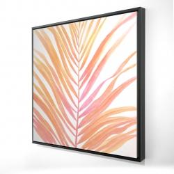 Framed 24 x 24 - 3D - Glam palm leaf