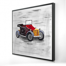 Framed 24 x 24 - 3D - Vintage car with sunroof