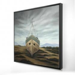 Framed 24 x 24 - 3D - Boat