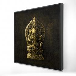 Framed 24 x 24 - 3D - Lord ganesha