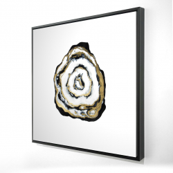 Framed 24 x 24 - 3D - Golden agate