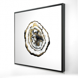 Framed 24 x 24 - 3D - Golden geode