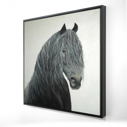 Framed 24 x 24 - 3D - Wild heart