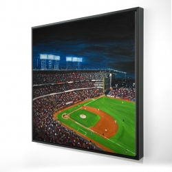 Framed 24 x 24 - 3D - Baseball game