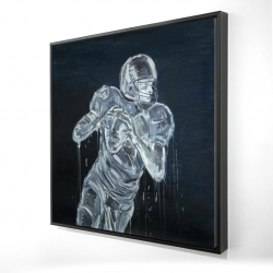 Framed 24 x 24 - 3D - Football player
