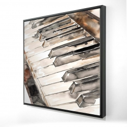 Framed 24 x 24 - 3D - Piano