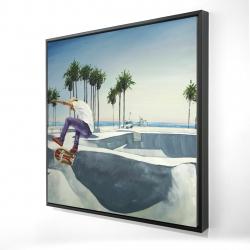 Framed 24 x 24 - 3D - Skate park california