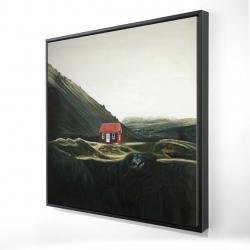 Framed 24 x 24 - 3D - Isolated shack